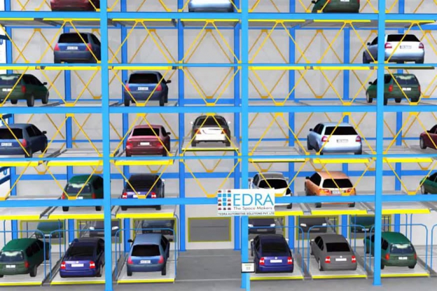 Puzzle Parking System - Large Parking in A Compact Space